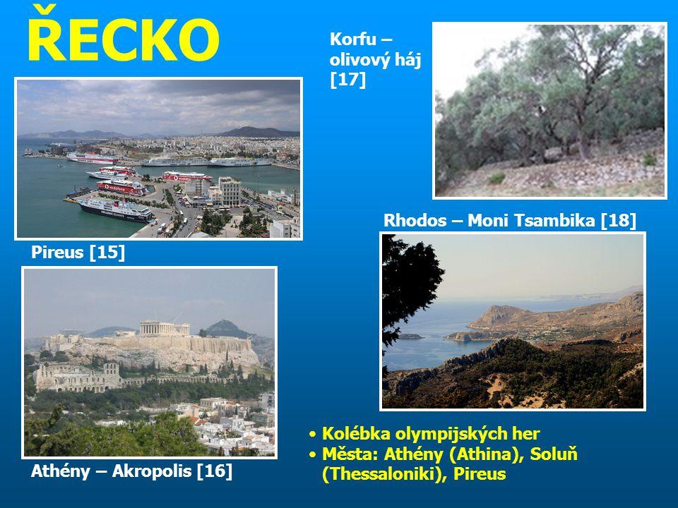 ŘECKO Korfu – olivový háj [17] Rhodos – Moni Tsambika [18] Pireus [15]